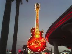 At the Hard Rock Cafe, Vegas. Picture taken with my cell phone.