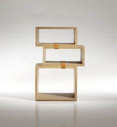 conran box / wood / leather shelving