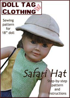 18 inch doll safari hat free pattern