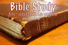 Bible Study and Character Training for Multiple Ages - little ones, elementary, tweens, teens