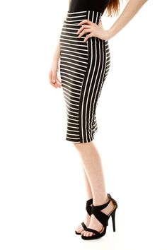 trend stripe, pencil skirts, stripe pencil, shoe