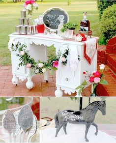 Kentucky Derby themed party (bunko night) via Kara's Party Ideas KarasPartyIdeas.com Perfect horse themed birthday! (13)