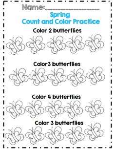 kdg spring count and color part of 30 pg math and ela packet!