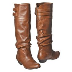 "1-Season Boots On A Budget: Mossimo for Target ""Kailey"" tall boots, brown. $34.99"