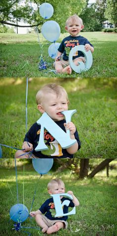 1st Birthday Posing Ideas for Boys!    www.cottonpinkphotography.com www.facebook.com/cottonpinkphotography #LettersPhotography #Childphotography