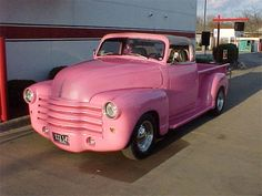 Classic Pink Truck.
