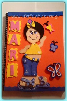 This is an awesome idea and design made using foam sheets to cover any notebook. #crafts #foamy