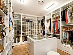 Take an extra room to a closet for a full dressing room!