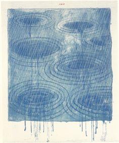 David Hockney, Weather Series – Rain, 1973