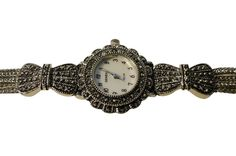 Exquisite Marcasite Gemstone Bracelet Watch    Price: £45    Available Online at: www.accessoriesofenvy.co.uk