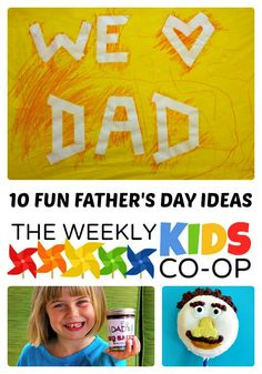 10 Fun Fathers Day Ideas from The Weekly Kids Co-Op at B-.comInspiredMama #kids #fathersday #binspiredmama #kbn