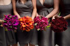 bouquets for each bridesmaid