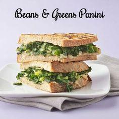 Braised Greens & Cannellini Bean Panini #vegan #dairyfree