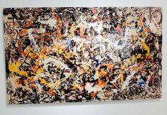 """Hey, there's a man in that Jackson Pollock painting! Chinese artist Liu Bolin paints himself to match his subject matter and photographs himself hidden inside, in this case Jackson Pollock's 1952 masterpiece """"Convergence."""" Click through to the blog to see Bolin in front of a magazine rack ... amazing!"""