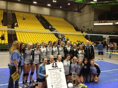 STATE CHAMPIONS: Bobcats win 4A title in thrilling five set match. Can't believe we did it!! We really worked hard!!
