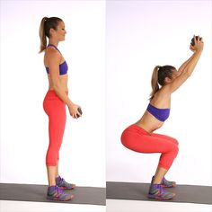 full body workouts, core workouts, abs workout with weights, workouts with hand weights, bikini motivation, ab workouts with weights, squats with hand weights, squats workout with weights, deep squat