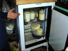 refrigeration without power - the cool box - video of a 1930's refrigerator...