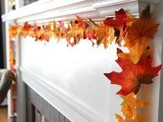 DIY Fall Leaves Garland >> http://blog.diynetwork.com/maderemade/how-to/diy-fall-leaves-garland/?soc=pinterest