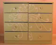 DIY stencil your furniture