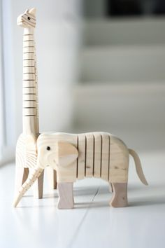wooden tiger & elephant / Styling & photography by Iro Ivy Nassopoulos