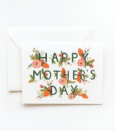 Rifle Paper Co. Garden Mother's Day card. #DearMom