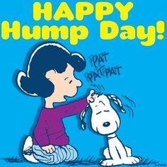 Happy Hump Day Wednesday! Snoopy and Peanuts cartoon via www.Facebook.com/Snoopy