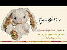 Conejo amigurumi (Parte 3: tejiendo las patitas)