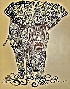 henna, tattoo idea, elephants, feet tattoos, elephant art, inspir, doodl, a tattoo, elephant tattoos