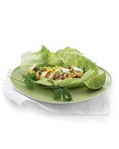 Grilled Chicken and Corn Lettuce Wraps Recipe