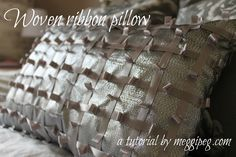 meggipeg: Woven ribbon cushion - a tutorial