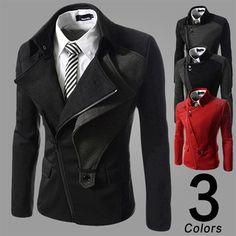 Asymmetric Zip Modern Men Designer Jacket | Sneak Outfitters