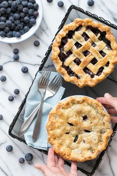 Fresh Blueberry Pie from www.loveandoliveoil.com