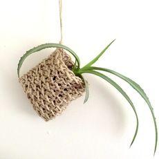 #crochet plant pouch by Margie Rahmann
