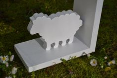 White Sheep Bookend  Price is for one bookend  by ProfessorFinley, $15.00
