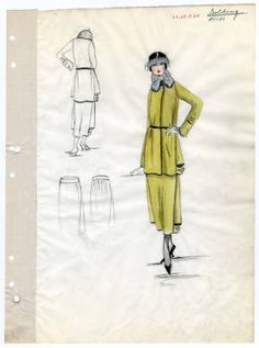 International fashion designs: collection of Jay Thorpe, New York, 1919 Fall. International fashion designs : collection of Jay Thorpe, New York, 1913-1936. The Metropolitan Museum of Art, New York. Costume Institute (b17573063) #fashion