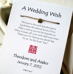 ♥ A Wedding Wish Favour