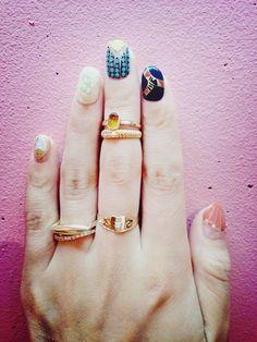 top nail, boho nail art, nail manicur