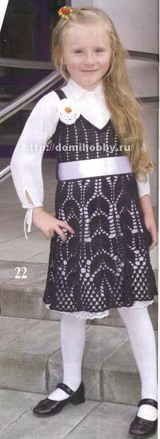 crochet symbol pattern, wheat crochet sampler dress for a girl