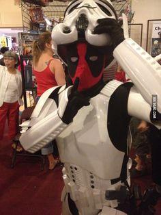 Star Wars x Deadpool. Curated by Suburban Fandom, NYC Tri-State Fan Events: http://yonkersfun.com/category/fandom/