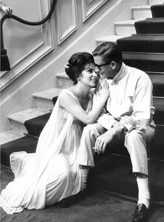 "Gina Lollobrigida & Robert Mulligan during ""Come September"" (1960)"