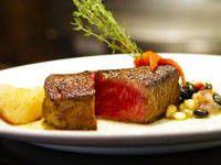 steak au, food, sauc