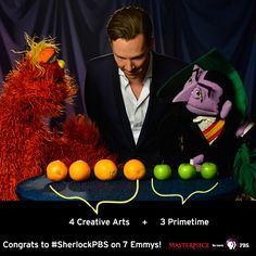 Glad for a little help from Count Von Count to count the Emmys for #SherlockPBS on @masterpiecepbs. It all adds up! http://twitter.com/PBS/status/504320373392158720/photo/1