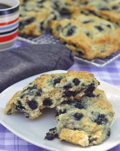 Blueberry Buttermilk Scones - Plenty of sweet blueberries fill these scones, so I've cut the sugar in this recipe back to a bare minimum. The buttermilk keeps them nice and moist with crispy, buttery edges.
