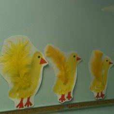 Footprint Easter Chicks