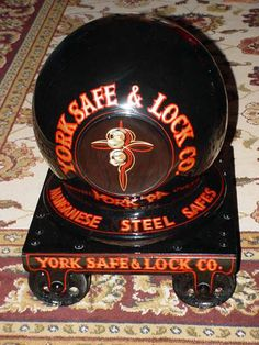 Antique Cannonball Safe with pinstriping