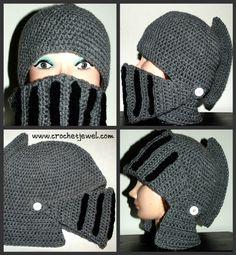 hats, crochet boy, helmet hat, patterns, free pattern, knights, helmets, knight helmet, crochet men