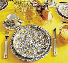 Vintage IKEA daisy dishes