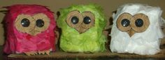 Tissue Paper Hooties are an easy owl craft for kids to make.