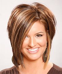 medium hair styles front and back pics | Formal Medium Straight Hairstyle - click to view hairstyle information