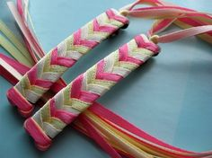 80s ribbon barrettes!